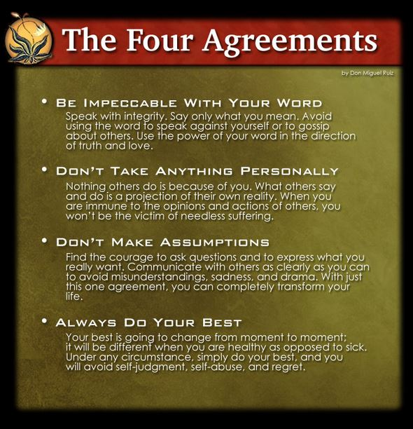 Sunday Service April 6 The Four Agreements A Spiritual Guide To